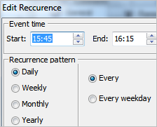 Setting Task Recurrence